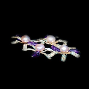 Petalos, Perlas y Amatista